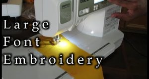 Learn How To Adjust The Font Size On A Computerized Brother Sewing Machine