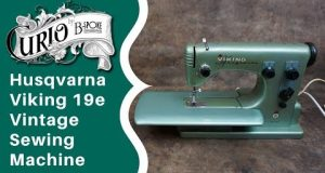Husqvarna Viking 19e Vintage Sewing Machine – How to Thread and Use
