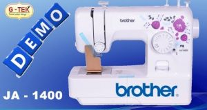 JA1400 Brother Automatic Portable Electric Home Sewing Machine Demo