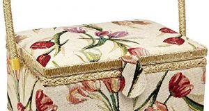 Sewing Basket with Tulip Floral Print