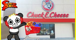 Chuck E Cheese Arcade Games ! Pizza +