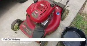 Lawn Mower Maintenance – Toro Recycler,briggs stratton, oil change, filter, and spark plug change.