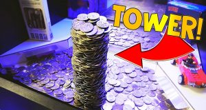 Coin Pusher || WINNING HUGE TOWER OF