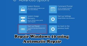 Repair Windows 10 using Automatic