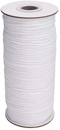 White Elastic Round 20 Yards Length