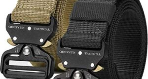 QINGYUN 2 Pack Tactical Belt,Military