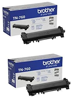 Brother Genuine TN760 2-Pack High